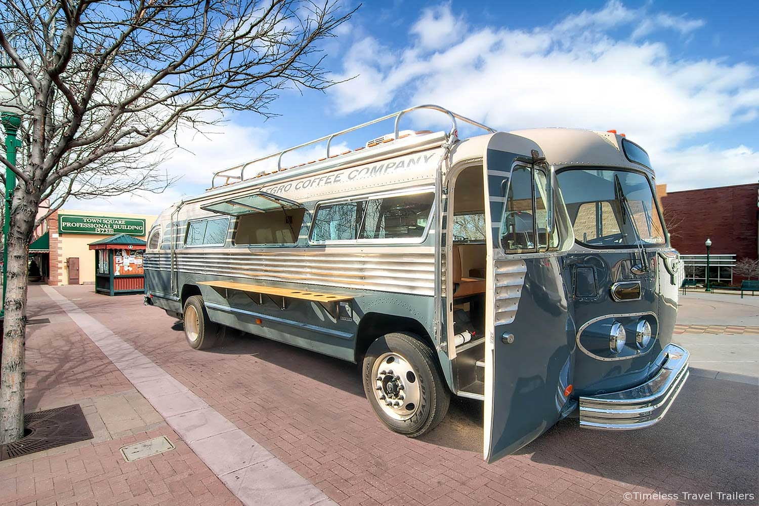 The Allegro Coffee Company Flxible Bus By Timeless Travel